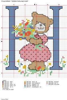 Alfabeto Hobby degli orsetti: H