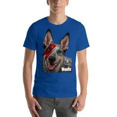 Bowie dog Short-Sleeve Unisex T-Shirt Hoodies, Sweatshirts, Designer Wear, Bowie, Fabric Weights, Unisex, Sleeve, Dogs, Cotton