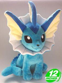 "Free Shipping Japanese Anime Pokemon Plush Toys 12"" Kawaii Vaporeon Dolls Stuffed Toys Christmas & Birthday Gifts - Animetee - 1"