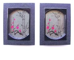 """""""Vintage Japanese Door Pulls - Sliding Door Pulls - Pocket Door Pulls - Vintage Door Pulls - Plum Blossoms Bamboo Silver Black (A37) Set of 2"""" by souzoucreations on Polyvore featuring interior, interiors, interior design, ホーム, home decor, interior decorating と vintage"""