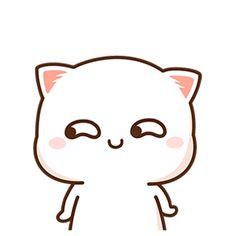 Breakfast at chanel Chibi Cat, Cute Chibi, Cute Love Gif, Cute Cat Gif, Kawaii Drawings, Cute Drawings, Griffonnages Kawaii, Cute Couple Cartoon, Cute Emoji