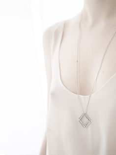 geometric stainless steel necklace /Bonnie/ by AnnaLawskaJewellery Jewelry Photography, Fashion Photography, Anna, Stainless Steel Necklace, Simple Jewelry, Photo Jewelry, Arrow Necklace, Jewelery, Pendant