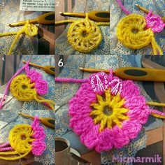 Crochet chart. Part one. Allers flower.
