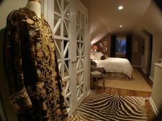 Recessed lighting in attic bedroom