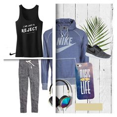 """run"" by lauraceron777 on Polyvore featuring moda, NLXL, NIKE, Casetify, Abercrombie & Fitch y Madewell"