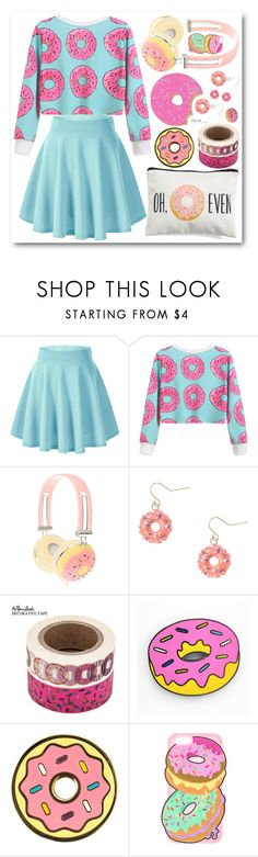 """""""donuts"""" by icy-frappe ❤ liked on Polyvore featuring claire's and Levtex"""