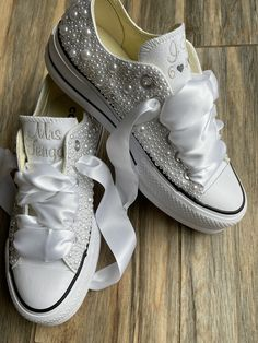 Excited to share this item from my #etsy shop: PEARL ENCRUSTED PLATFORM Converse, Bride Shoes, Wedding Embroidered Wedding shoes, wedding sneakers, Decorated ShoesConverse Wedding Sneakers, Wedding Converse, Groom Shoes, Bride Shoes, Bling Wedding, Wedding Shoes, Wedding Dresses, All White Converse, Platform Converse