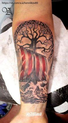 sail - Iriah flag sail -Iriah flag sail - Iriah flag sail -flag sail - Iriah flag sail -Iriah flag sail - Iriah flag sail - Takich flag u nas nie było, ale kto wie.może ktoś z Was stworzy taką wyjątkową ścieżkę? Viking Ship Tattoo, Viking Tattoo Sleeve, Forearm Sleeve Tattoos, Viking Tattoo Design, Leg Tattoos, Body Art Tattoos, Tattoos For Guys, Armor Tattoo, Tattoo Ink