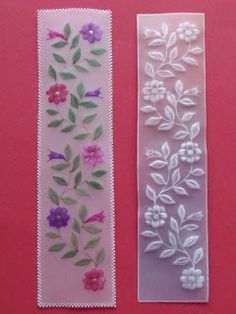 Parchment craft free pattern for bookmark Paper Embroidery, Silk Ribbon Embroidery, Machine Embroidery Designs, Embroidery Patterns, Vellum Crafts, Parchment Design, Parchment Cards, Butterfly Template, Card Patterns