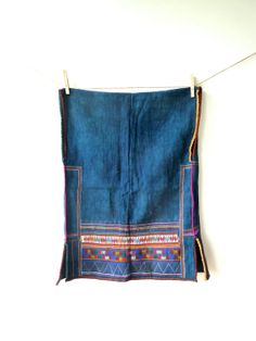 Vintage ethnic Akha vest, tribal vest.  Handmade from recycled and fairly made materials.