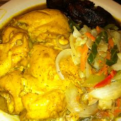 Curried Chicken. Jamaican food. @Mista Brown