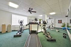 The Genetti Hotel fitness center is accessible 24/7.