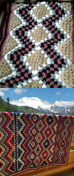 Classic Retro Blanket Free Crochet Pattern