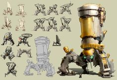 DeviantArt: More Like Crysis 3 thumbnail mech concepts by Trudsss