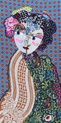 Tableau de tissus © Katherine Roumanoff