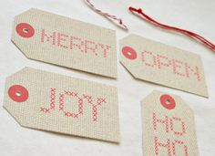 printable cross stitch tags