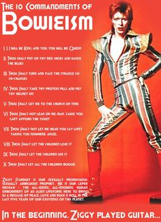 The 10 commandments of Bowie