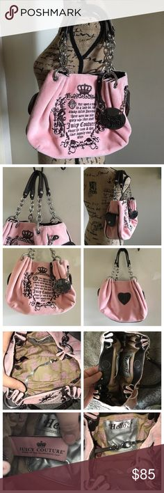 Juicy Couture Once Upon a Time Velour Purse I love this baby soft pink Juicy 50b629b7f5