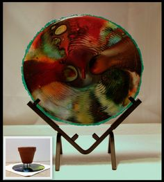 Fused Glass Big Round Sculpture Worlds by FusedglassJennyK on Etsy