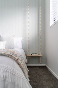 Bedroom inspo in the form of this serene space created with HardieGroove Lining by James Hardie Rooms Home Decor, Diy Room Decor, Bedroom Decor, James Hardie, Small Master Bedroom, Aesthetic Bedroom, Farmhouse Style Decorating, Bedroom Inspo, Home Hacks