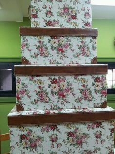 Cajas de cretona en bordar