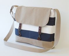 60190a52a5 Items similar to Navy stripe and beige