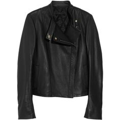 The Row Cookton textured-leather biker jacket ($2,990) ❤ liked on Polyvore