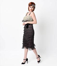 Iconic by UV Ombre Harlem Tiered Fringe Flapper Dress $98.00 AT vintagedancer.com