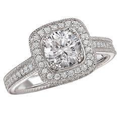 White gold round brilliant cut diamond ring!