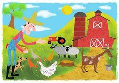 Label the Farm Picture Activity