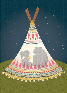 Hillary Bird prints I LOVE Native Prints, thanks Lisa for the HEADS UP? Deb.