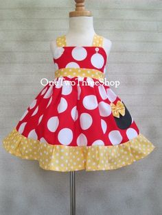 Custom Boutique Minnie Mouse Jumper  Dress 12 Months to by amacim, $38.99