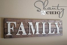 DIY Wooden Family Sign with galvanized hex screws and washers