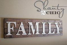 DIY Wood Family Sign