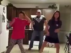 Dad outperforms daughters at the Whip Nae Nae (unbeknownst to them)