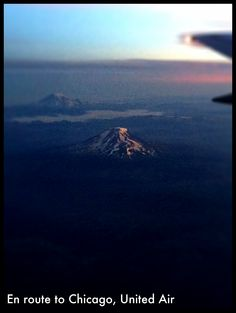 In the air from Portland, OR to Chicago, IL.