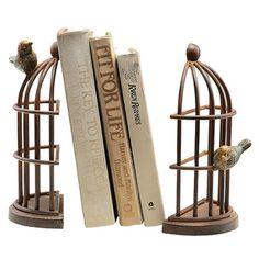 2 Piece Bird House Bookend Set