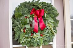 LOVE this fresh noble-fir wreath from ProFlowers!  #ChristmasDecorating #PFdecorates #ad #wreath #decor #Christmas