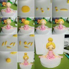 Little Ballerina cake topper - CakesDecor Girlie Birthday Cakes, Ballet Birthday Cakes, Ballet Cakes, Ballerina Birthday Parties, 4th Birthday, Birthday Ideas, Diy Cake Topper, Cake Topper Tutorial, Fondant Cake Toppers