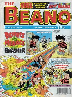 The Beano - published by a great family owned business in Scotland (caption previous pinner, thank you) GRS says: My grandmother used to subscribe to this comic and mail it to us, from London.  It was a wonderful part of my childhood, getting the Beano (and the Dandy) every few weeks, for several years