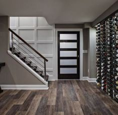 trendy home remodeling basement house Small Basement Remodel, Basement Renovations, Home Renovation, Home Remodeling, Basement Stairs, Basement Flooring, Basement Ideas, Wood Stairs, Basement Shelving