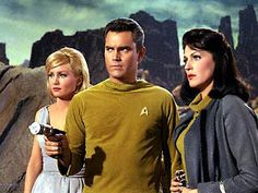 Capt Pike and Number One. I often wonder if Jeffrey Hunter had stayed with the series if he'd still be alive today...