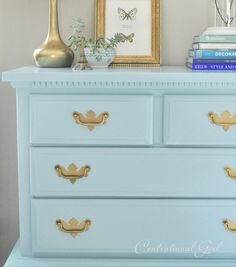 "Pinner says ""Great tutorial on how to paint a dresser with favorite paints to use...also gives the exact color of this dresser"" VERY HELPFUL!"
