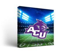 Abilene Christian Wildcats Football Stadium Canvas Art Square https://www.fanprint.com/licenses/abilene-christian-wildcats?ref=5750