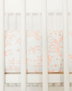 Cotton Muslin Crib Sheet - Garden Rose