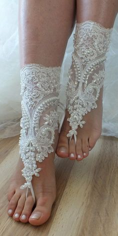 beach shoesUnique design bridal sandals lariat by WEDDINGHome, $39.00