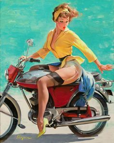 """Pinup art.  Especially   Gil Elvgren """"Skirting the Issue"""""""
