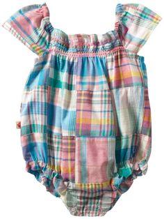 Amazon.com: Hatley - Baby Girls Infant Ruffled Shortall: Clothing