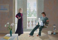 MR. & MRS. CLARK AND PERCY by David Hockney 1970-71, Acrylic on canvas (Celia Birtwell)