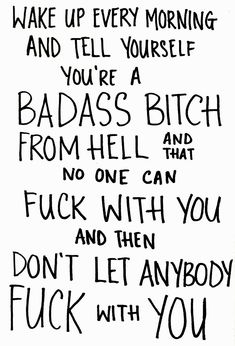 Badass bitch!